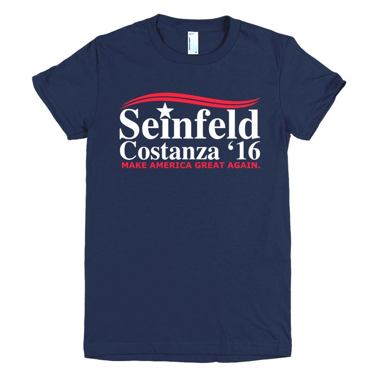 Seinfeld Costanza 2016 Womens T-Shirt—Make America Great Again
