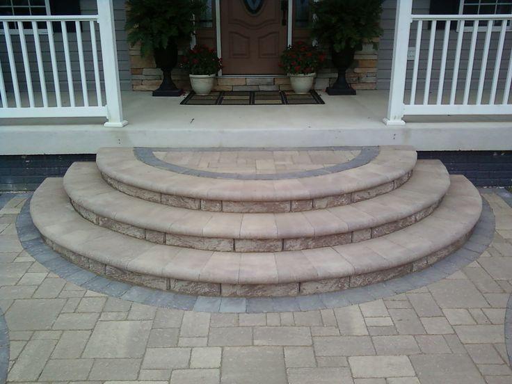 Concrete Porch Steps Design The Age Old Debate Paver Patio Vs Wood Deck Porch Pinterest