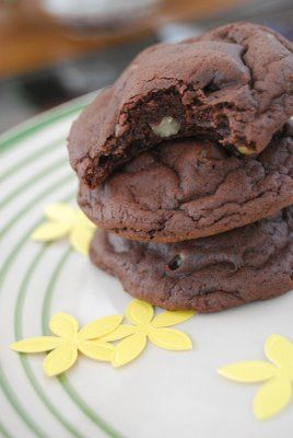 Chocolate Cake Mix Cookies. Super easy to make, and taste like a brownie!