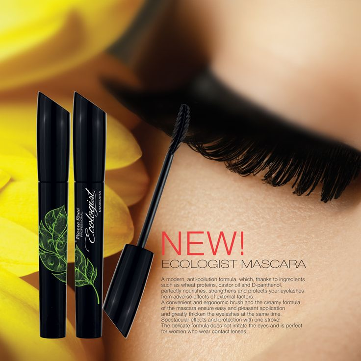 LASH ECOLOGIST MASCARA  A modern, anti-pollution formula, which, thanks to ingredients such as wheat proteins, castor oil and D-panthenol, perfectly nourishes, strengthens and protects your eyelashes from adverse effects of external factors.  A convenient and ergonomic brush and the creamy formula of the mascara ensure easy and pleasant application and greatly thicken the eyelashes at the same time. Spectacular effects and protection with one stroke!  The delicate formula does not irritate…