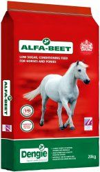 ALFA-BEET is a high-fibre, low sugar and starch, conditioning feed. Ideal for aiding hydration or for older horses and ponies who struggle to chew longer length fibre. Alfa-Beet is approved by The Laminitis Trust.