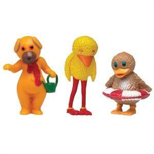 Bamse, Kylling og Ælling som minifigurer.