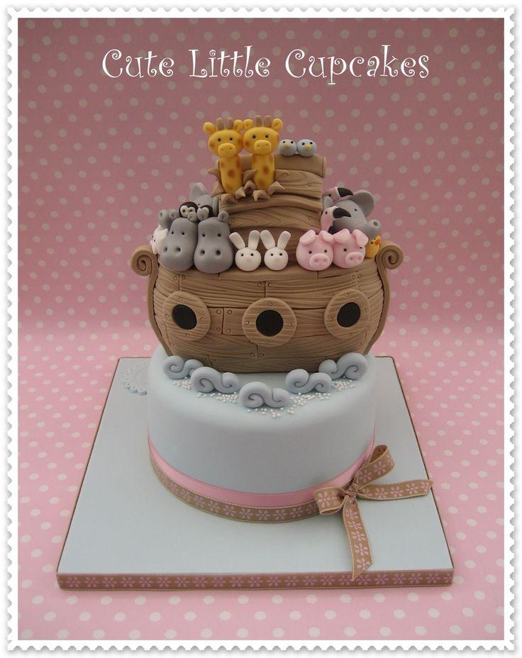 Noah's Ark themed Christening cake x