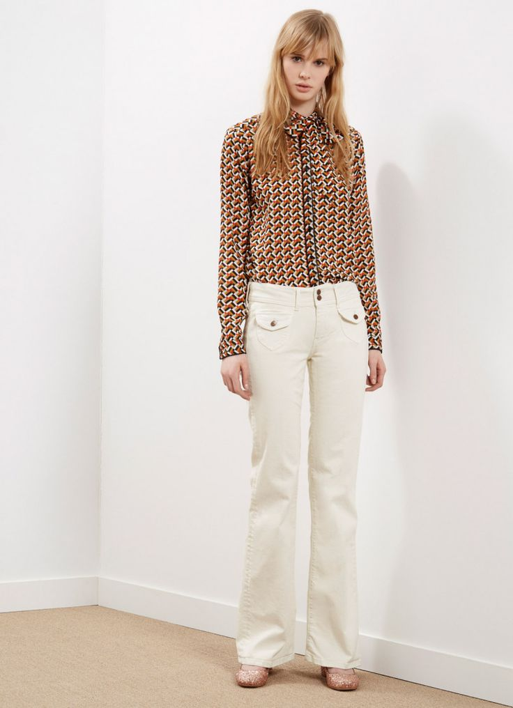 Bluse mit Retroprint  Damen   Onlineshop   Pepe Jeans London   Pepe Jeans London
