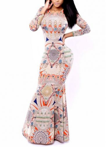 Pretty Round Neck Printed Sheath Dress for Woman  on sale only US$24.34 now, buy cheap Pretty Round Neck Printed Sheath Dress for Woman  at modlily.com