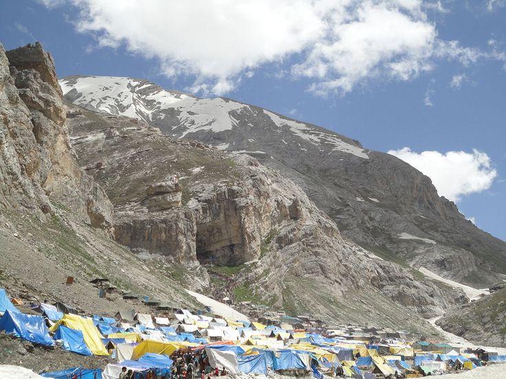 "* Tent near ""Amarnath Cave""/""Amarnath Temple"" * Estado de Jammu e Kashmir, Índia."