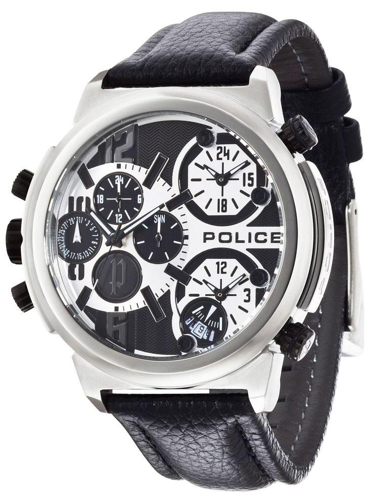 Police Uhr Herren Armbanduhr P13595JS-02 PYTHON schwarz Lederband  http://www.uhren-versand-herne.de/police-uhr-herren-armbanduhr-p13595js-02-python-schwarz-lederband.html