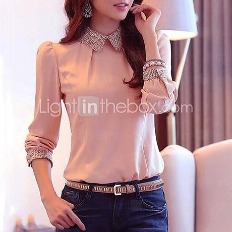 Женская элегантная шифоновая блузка (больше цветов) - CAD $ 19.02