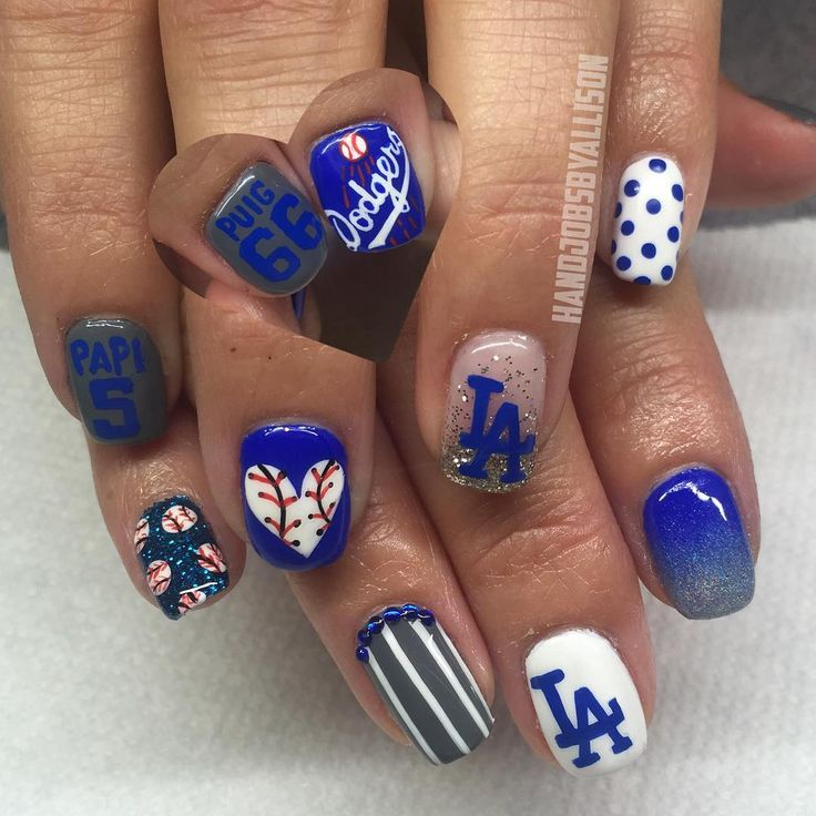 68 best Sports Nail Art images on Pinterest | Sport nails ...
