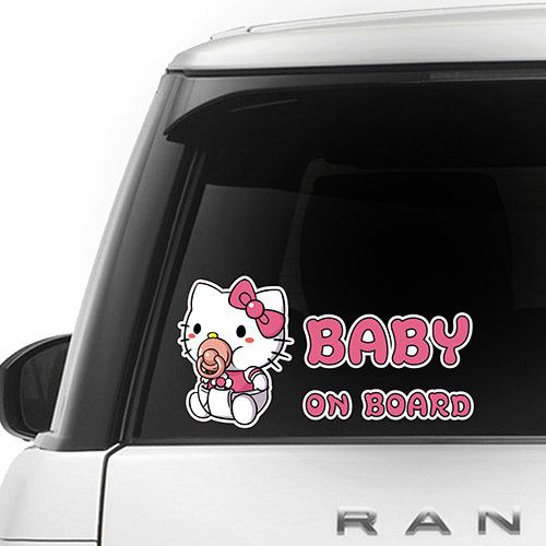 [ Hello Kitty ] BABY ON BOARD SERIES FOR CAR $9.99 + Free Shipping   Awesome Gift for Baby Shower Decal Sticker Sign Vinyl Pregnancy Motherhood Maternity Newborn Expecting Birth Child Safety Little Princess in Car Present BIMBO A BORDO BÉBÉ À BORD BEBÉ A BORDO BABY AN BORD BEBÊ A BORDO