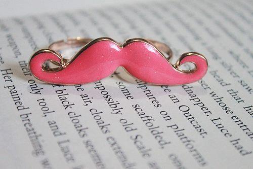 anillo mostache rosa