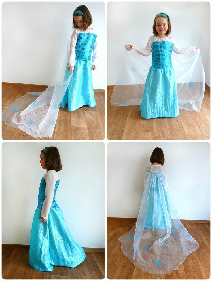 Elsa dress diy
