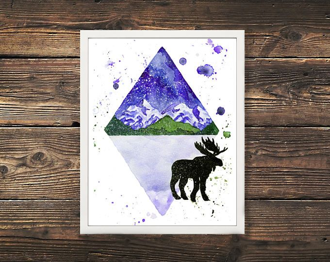 Moose Mountain Canadian Print  Browse unique items from WildNorthCreations on Etsy, a global marketplace of handmade, vintage and creative goods.