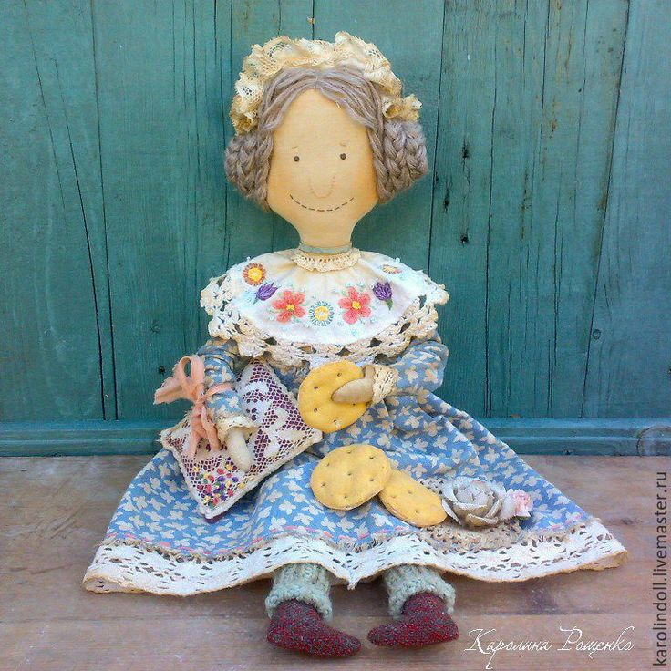Купить Печеньки перед сном - голубой, текстильная кукла, интерьерная кукла, для спальни, для кухни, для интерьера