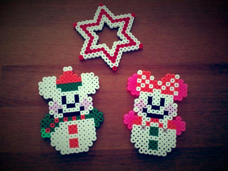 アイロンビーズ クリスマスミッキー ミニー                                                                                                                                                                                 もっと見る