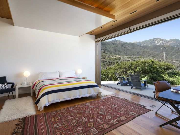 Mountain view bedroom a modern architectural masterpiece in california