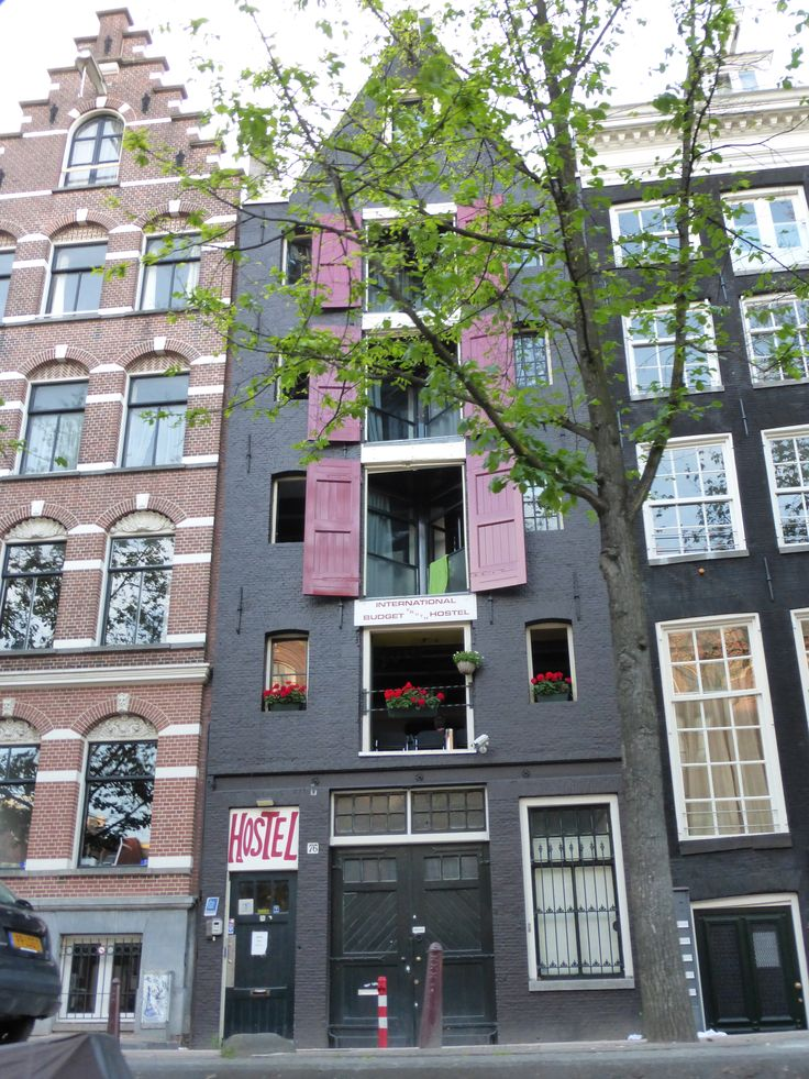 Beautiful hostel along the canals in Amsterdam. Photo by Laura 2013