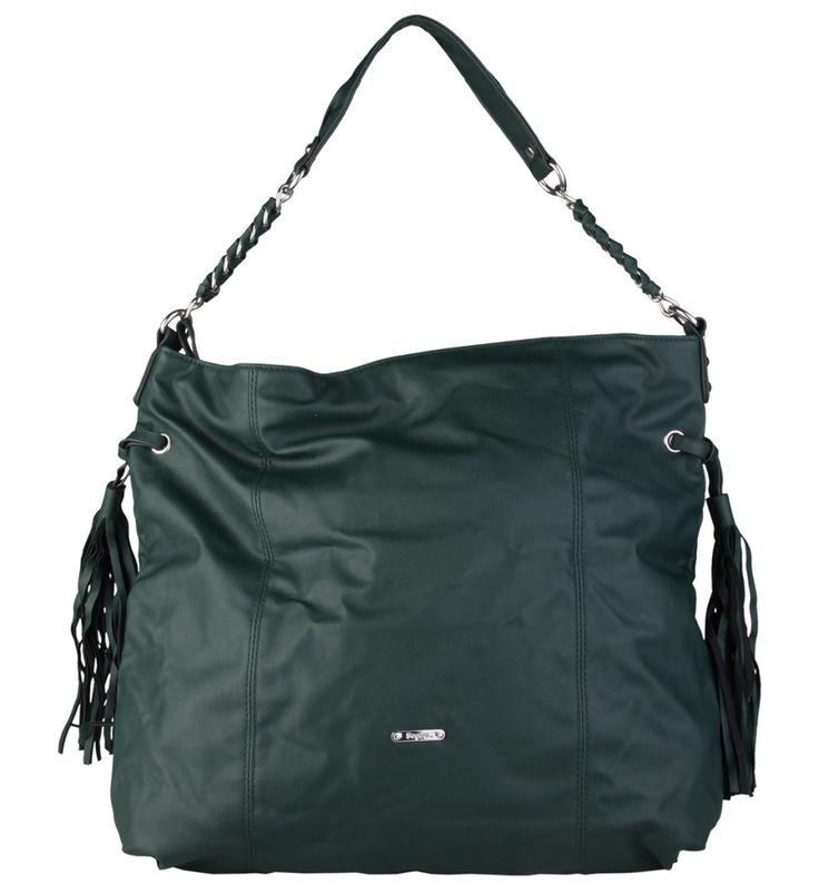 Dámská kabelka přes rameno Segue, se střapci - tmavě zelená   obujsi.cz - dámská, pánská, dětská obuv a boty online, kabelky, módní doplňky