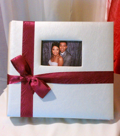 Photo booth scrapbook - Use it as your guest book. A wedding must-have!