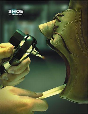 11assic Print: Shoe. The shoe hospital. |CREATIVE ADS