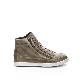 Musthave Manfield Hoge sneakers (Taupe) Hoge sneakers van het merk Manfield voor Dames. Uitgevoerd in Taupe in Leer.