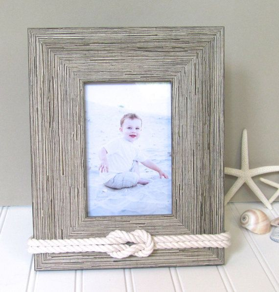 4x6 Light Rustic Nautical Picture Frame Rope Knot by Golden Gray
