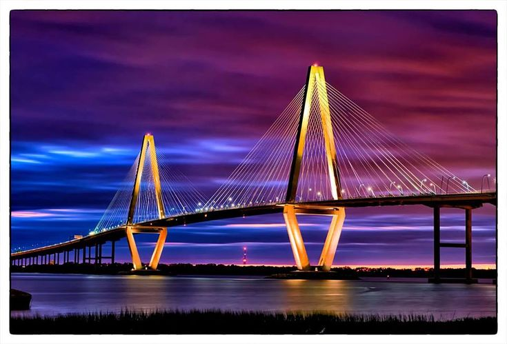 The Arthur Ravenel Jr. Bridge is a cable-stayed bridge over the Cooper River in South Carolina, USA, connecting downtown Charleston to Mount Pleasant.