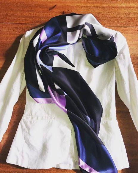 Cashmere Silk Scarf - Palisades Pink 4 by VIDA VIDA Ty6rNIKkts