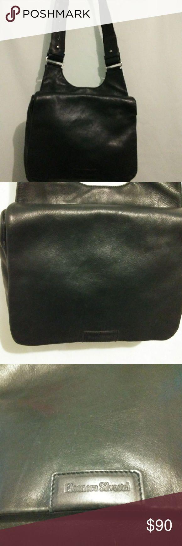 EUC ELEONORA SILVESTRI CALF LEATHER SHOULDER BAG Super soft leather!!  From Spain eleonora silvestri Bags Shoulder Bags