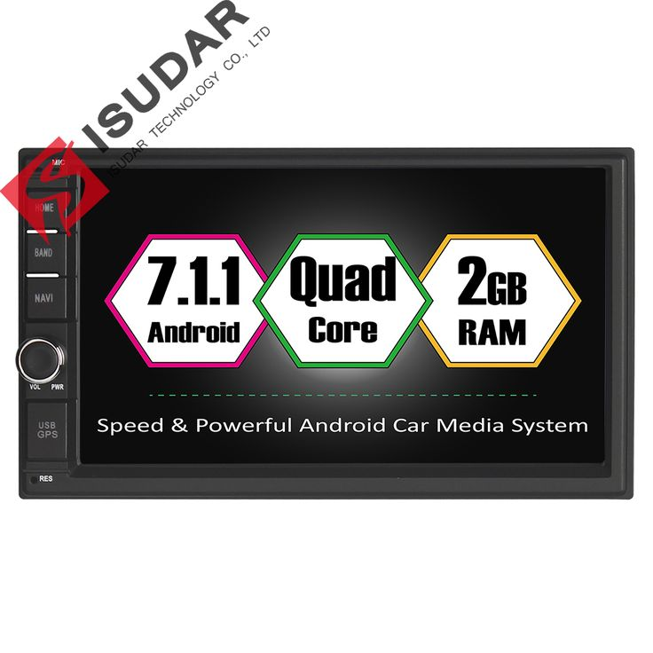 Android 7.1.1 Two Din 7 Inch Universal Car DVD Player For Nissan 2G RAM 16G ROM Wifi GPS Navigation Radio FM Without DVD //Price: $262.43 & FREE Shipping //     #navigation