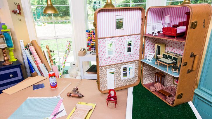 Suitcase Dollhouse by kenneth wingard home and family tv. Step by step video. Easy and cute