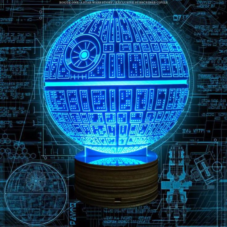 Star Wars The Force Awakens Death Star Lamp