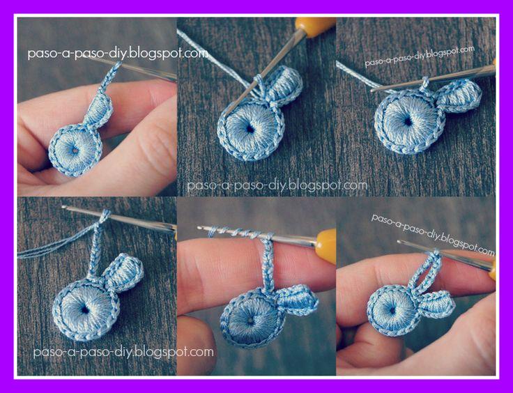 Flor de Tres Pétalos al Crochet - Paso 4
