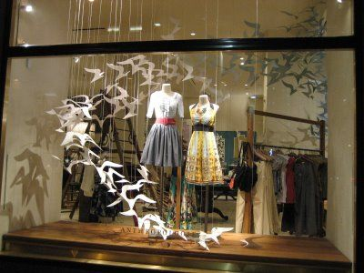 AnthropologieStores Front, Shops Windows, Window Displays, Paper Birds, Stores Windows, Windows Display, Clothing Stores, Display Windows, Stores Display