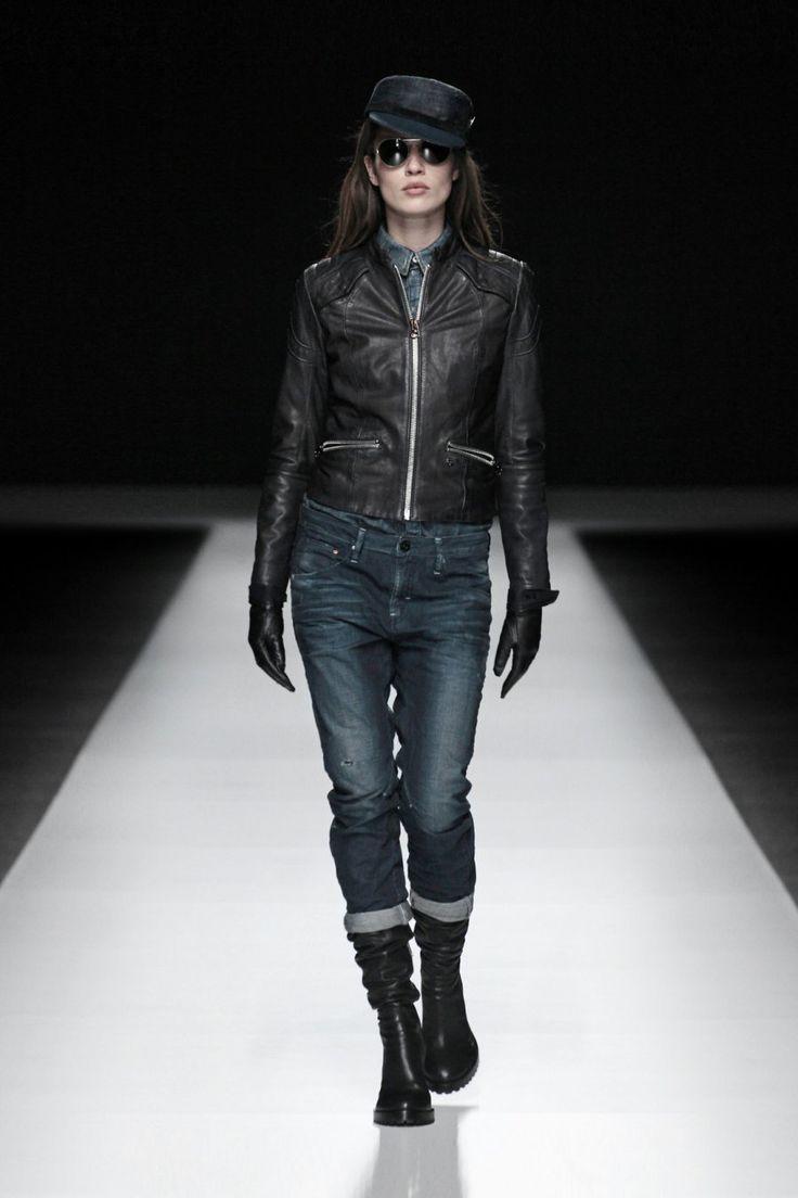 G-Star Raw F/W 2012 Women's Lookbook Aviator leather jacket wmn - Hussar dnm slim shir wmn ls - re arc 3D tapered wmn.jpg