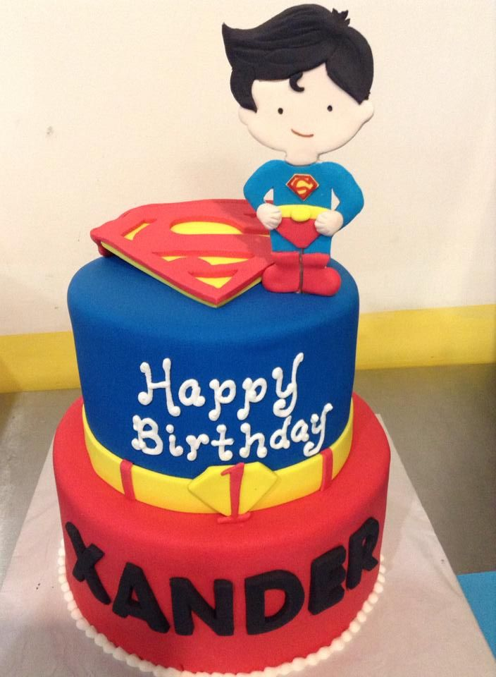 Superman Birthday Cake Sugarnomics Cake Studio Guam