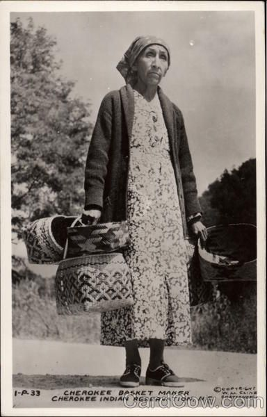 Cherokee Basket Maker,  North Carolina, Cherokee Indian Reservation.