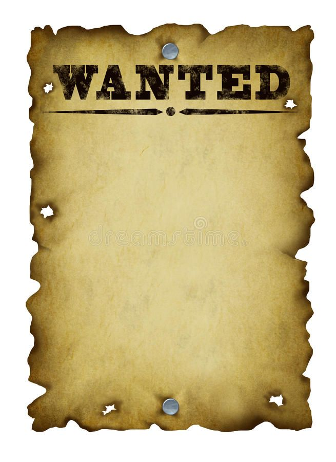 Old Western Wanted Poster With Metal Nails And Torn Burnt Antique Parchment Tex Ad Torn Nails An Poster Template Free Poster Template Western Posters