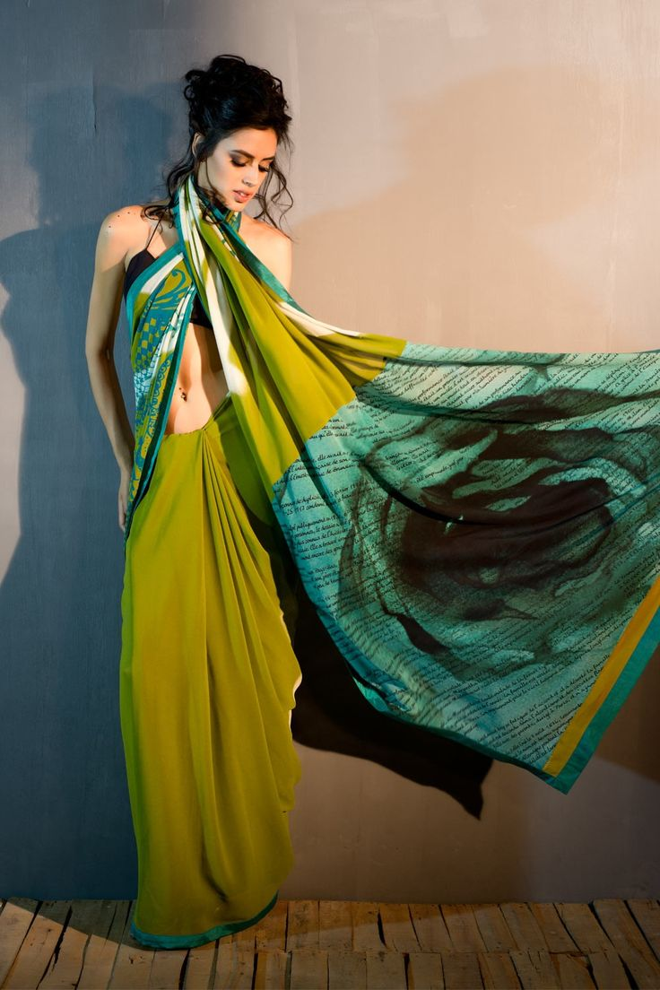 Abstract Vintage #Saree from the house of #SatyaPaul