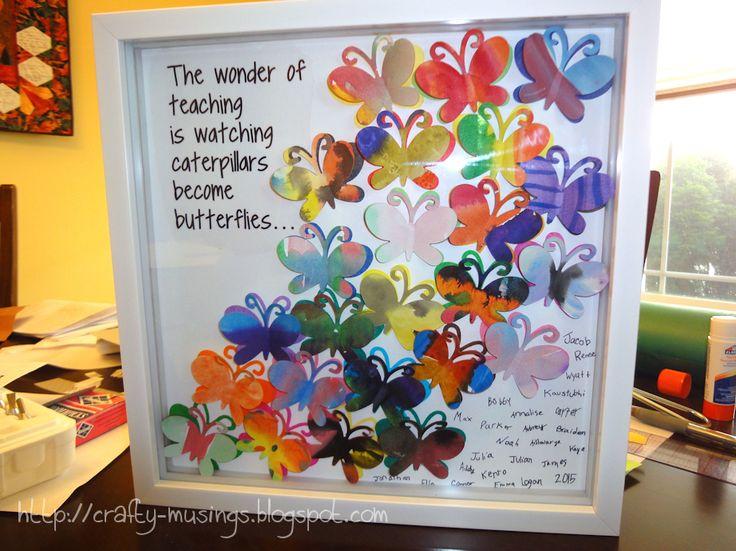 framed butterfly art