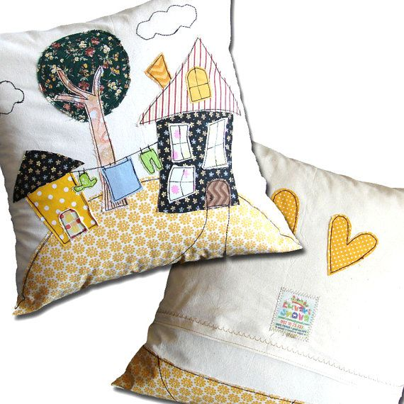 Kids Pillow Personalized Pillow Case Cushion by DreamsGuardian
