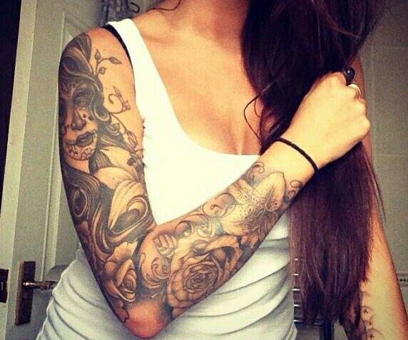 tattoo sleeve flowers tattoos pinterest tattoo. Black Bedroom Furniture Sets. Home Design Ideas