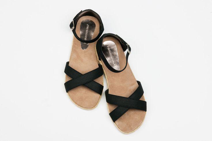 Espadrille Woman - Black Linen AU$49.95