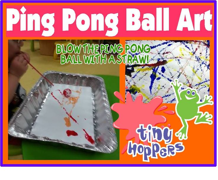 Pin Pong Ball Painting - Tiny Hoppers