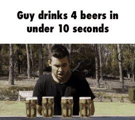 drinks, beer, chug GIF