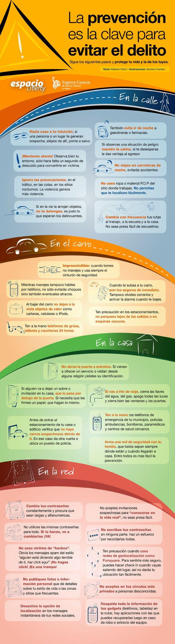 La prevención es la clave para evitar delitos #infografía