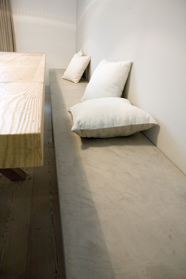 Panca in microcemento Microtopping | Bank aus Beton | Bench in Concrete