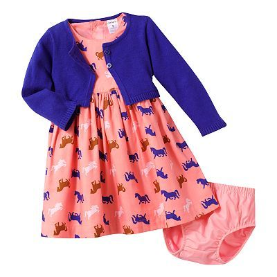 Carter's Horse Woven Dress Set - Baby
