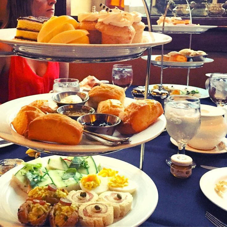Delectable high tea appetizers, finger foods and desserts.