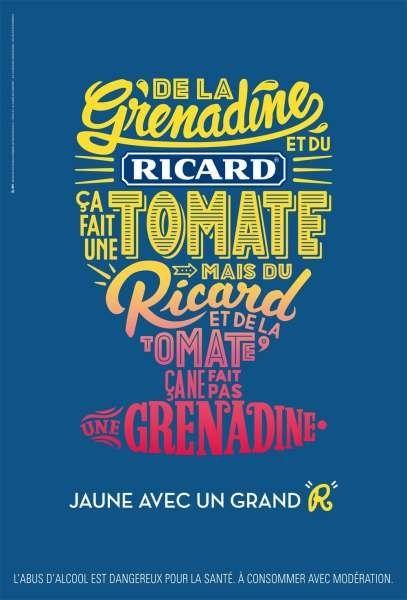 Ricard - Calligramme Tomate